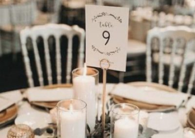 Table centerpiece Oaks Manor