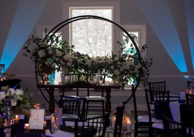 Wedding decor at Oaks Manor banquet hall