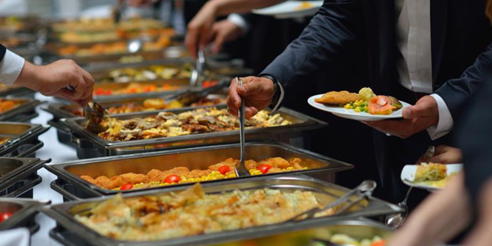 buffet of delicious foods
