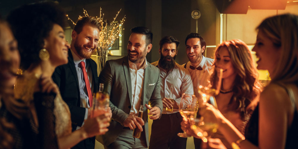 group of people having fun at corporate event