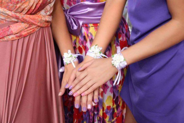 Colorful bridesmaid's dresses